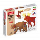 Tecno Puzzle 3D Urso e Alce Quercetti