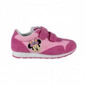Tennis sapatilha com felcro Minnie - rosa