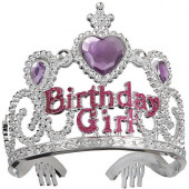 Tiara Birthday Girl Prateada