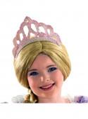 Tiara Rosa Lantejoulas Princesa