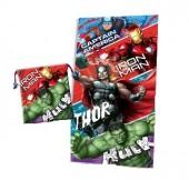 Toalha + bolsa Avengers