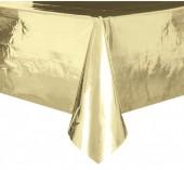 Toalha Festa Dourado Metalizado 2,74 x 1,37 cm