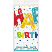 Toalha Festa Plástica Happy Balloon Birthday
