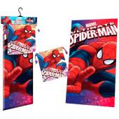 Toalha Microfibra + Saco Lanche Spiderman Face