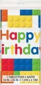 Toalha plástica blocos de lego - Happy Birthday