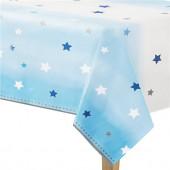 Toalha Plástica de Festa Primeiro Aniversário Azul
