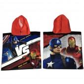 Toalha poncho Marvel Iron Man vs Capitão América