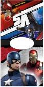 Toalha poncho praia Marvel Iron Man vs Capitão América