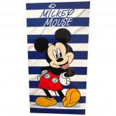 Toalha Praia Algodão Mickey Listas Azuis
