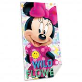 Toalha Praia Algodão Minnie Wild Flower