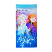 Toalha Praia Microfibra Anna e Elsa Frozen 2