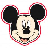 Toalha Praia Microfibra Forma Mickey Disney 70x140cm