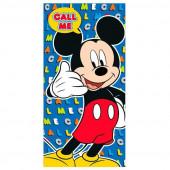 Toalha Praia Microfibra Mickey Call Me