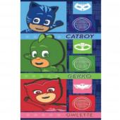 Toalha Praia Microfibra PJ Masks Heroes