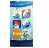 Toalha praia Smurfs