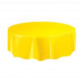 Toalha redonda amarela