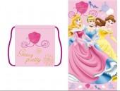 Toalha transformável em saco Praia Princesas Disney