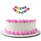 Topper Bolo Happy Birthday Bandeira