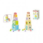 Torre cubos madeira -Play & Learn