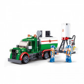 Town Camião Transporte Combustível 267 peças Sluban