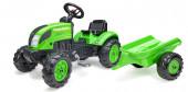 Trator Farmer Verde com Reboque Falk