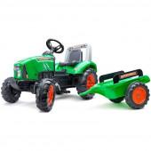 Trator Supercharger Verde com Atrelado Falk