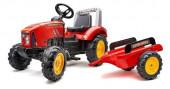 Trator Supercharger Vermelho com Atrelado Falk