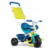 Triciclo Smoby Move Comfort Azul Roda Soft