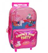 Trolley Escolar Porquinha Peppa Pool Party 39cm