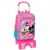 Trolley Minnie escolar 38cm Disney - Pink