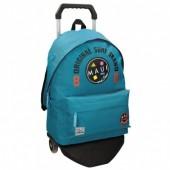 Trolley Mochila Azul Turquesa escolar 42cm Maui & Sons - Surf