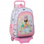 Trolley Mochila Escolar 42 cm Barbie Girl Power