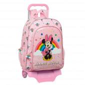 Trolley Mochila Escolar 42 cm Minnie Rainbow