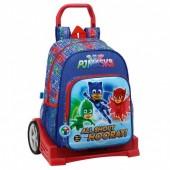 Trolley Mochila escolar 42cm Carro Evolution PJ Masks All Shout Hooray