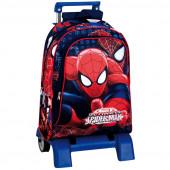 Trolley Mochila Escolar 43cm Spiderman Eyes