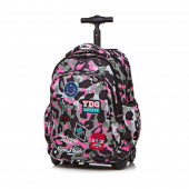 Trolley Mochila Escolar 44cm CoolPack Badges Camo Pink