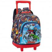 Trolley Mochila Escolar 46cm Compacto Avengers Ice Storm