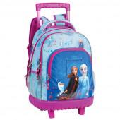 Trolley Mochila Escolar 46cm Compacto Frozen 2 Family Together
