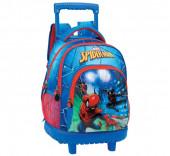 Trolley Mochila Escolar 46cm Compacto Spiderman City Protection