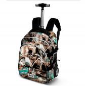 Trolley mochila escolar 48cm Liga da Justiça
