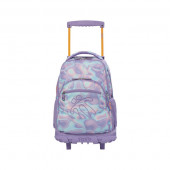 Trolley Mochila Escolar 52cm Totto Purple Iridescent