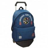Trolley Mochila escolar Azul escuro 42cm Maui & Sons - Surf