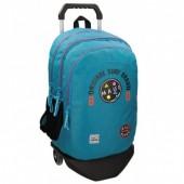 Trolley Mochila escolar Azul turquesa 44cm Maui & Sons - Surf