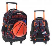 Trolley Mochila Escolar Compacto 45cm Must Basketball