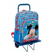 Trolley Mochila escolar Mickey Color Diamond 38cm