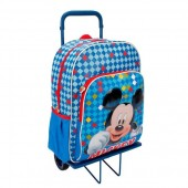 Trolley Mochila escolar Mickey Color Diamond 41cm