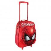 Trolley mochila pré escola 3D EVA 41cm - Spiderman