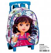 Trolley Mochila Pré Escolar 28cm Dora Glitter