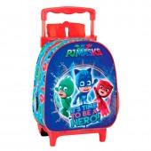 Trolley Mochila pré-escolar 28cm Pjmasks - It´s time to be a hero!