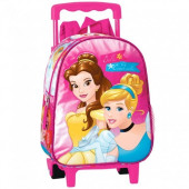 Trolley Mochila pre escolar 28cm Princesas Bela e Cinderela